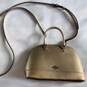 COACH Mini Gold Leather Bag